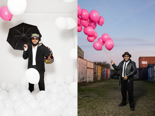 Commercial Advertisement Ad Photoshop Photography Music Concert Festival Tour Backstage Stage - by Julian Erksmeyer Anthony Mills djiamdapinkberrygordy Hiphop Trap Balloons pink white sunglasses smile laugh laughter