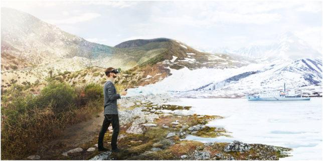 Virtual Reality Composing Desert California and Arctic Ice Snow Commercial Photography